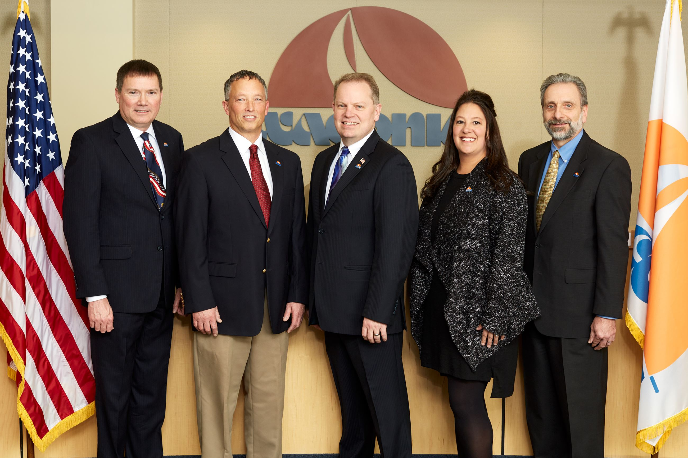 Council Group (left to right: Charles Erickson, Kent Bloudek, James Sanborn, Nicole Waldron, Marc Ca