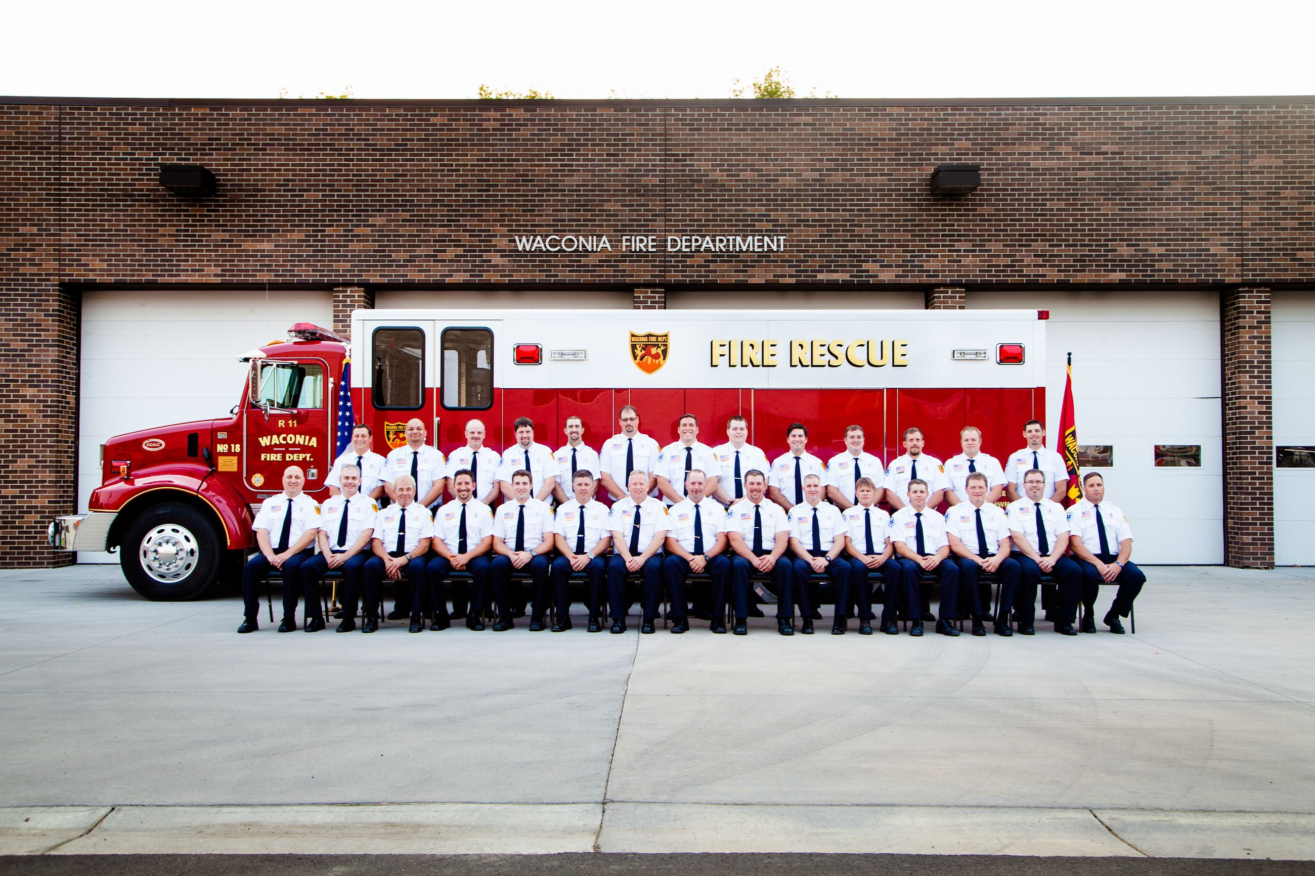 Group picture of members of Fire Department